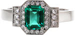 Design 1677 - Custom Design Rings - Art Deco, Emerald, Halo