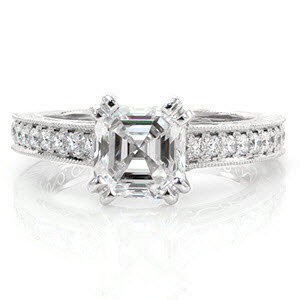 Our Asscher Siempre design is ring #8 from Our Top Ten Most Beautiful Ring List