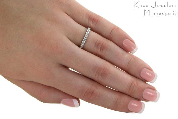 Hand Engraved Pave Petite Eternity Eternity Bands Knox