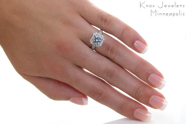 Lotus Halo Engagement Rings Knox Jewelers