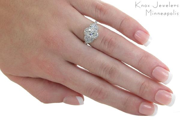 with moon center cushion cut ring three products stone side stones two sandra miadonna left engagement rings