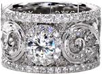 Calabria - Antique Engagement Rings - Hand Engraved Band, Knox Signature Rings