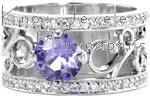 Design 2455 - Filigree Engagement Rings - Purple Sapphire, Filigree, Nic and Alex