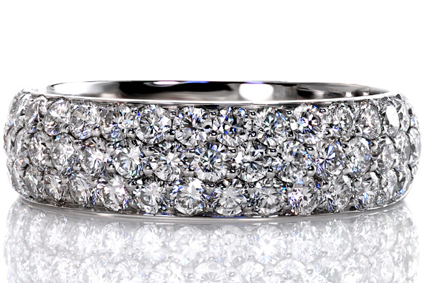 Pave Macro Micro Pave Engagement Rings