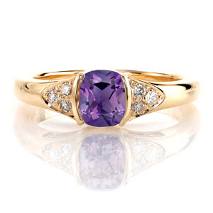 Amethyst-2231 Unique Engagement Rings