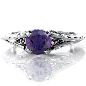 Amethyst-Bonita Unique Engagement Rings