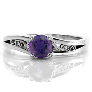 Amethyst-Desiree Unique Engagement Rings