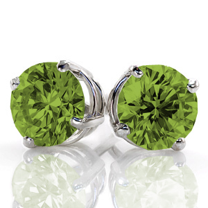 Peridot-studs Unique Engagement Rings