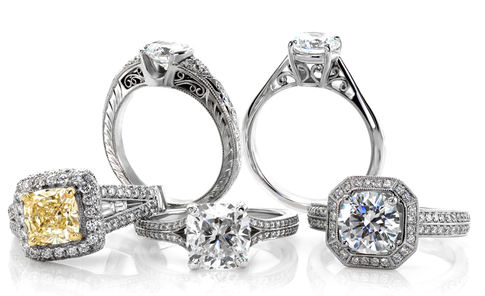 5-Ring-Fixed Unique Engagement Rings