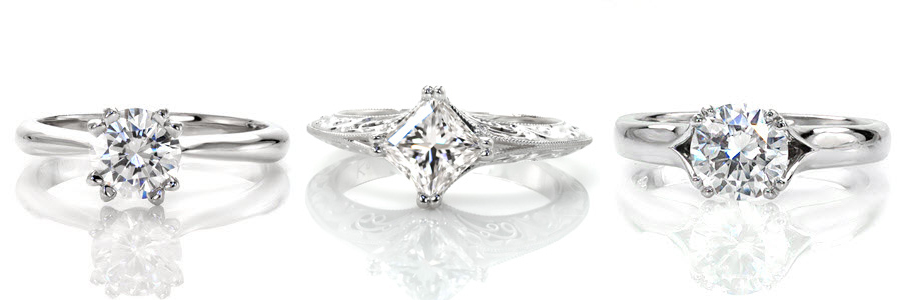 Double-Prong Unique Engagement Rings