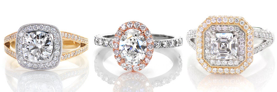 Halos Unique Engagement Rings