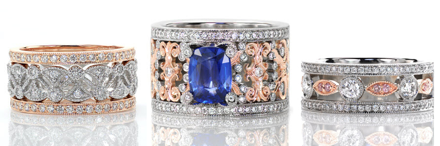 Wide-Bands Unique Engagement Rings