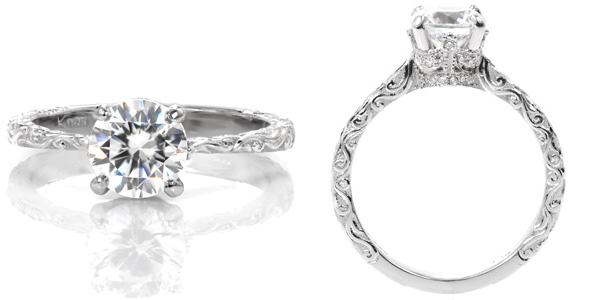 Coral Unique Engagement Rings