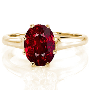 Ruby-1 Unique Engagement Rings
