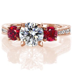 Ruby-4 Unique Engagement Rings