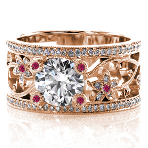 Ruby-5 Unique Engagement Rings