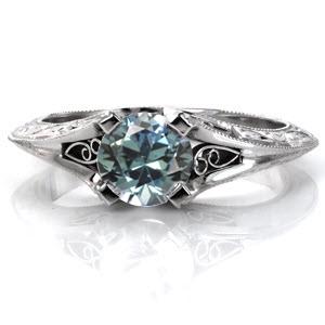 Mon-Sapphire Unique Engagement Rings