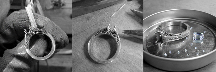3 Ring Spotlight Unique Engagement Rings
