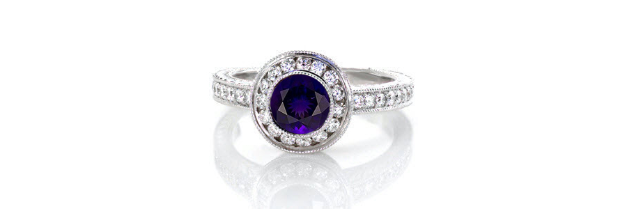 Amethyst-Ring Unique Engagement Rings
