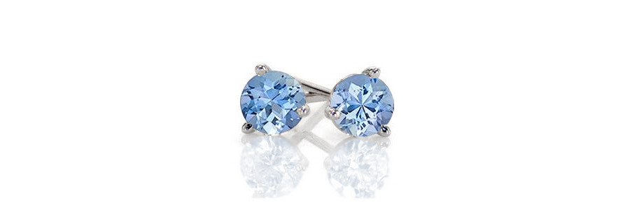 Aqua-Earrings Unique Engagement Rings
