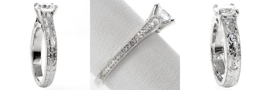 Floral Unique Engagement Rings