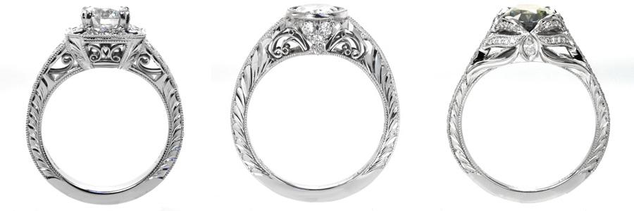 Half-Wheat Unique Engagement Rings