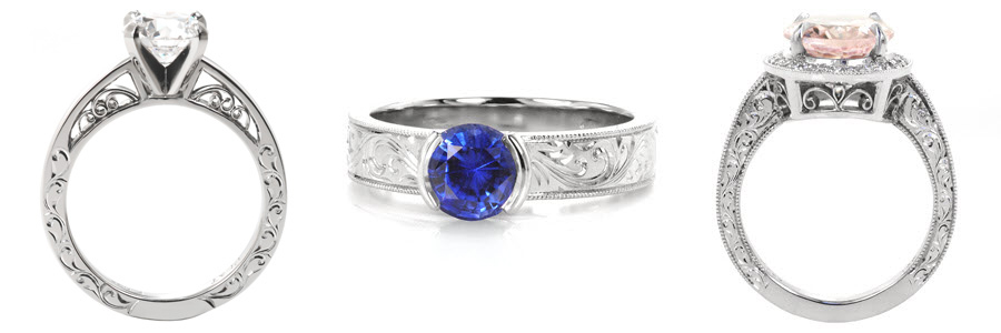 Scroll Unique Engagement Rings
