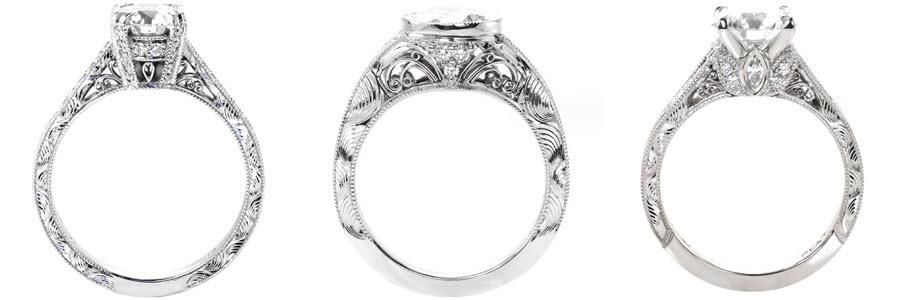 Wave Unique Engagement Rings