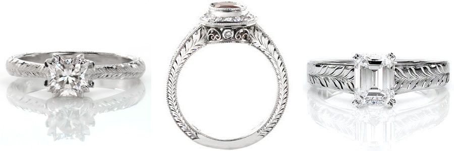 Wheat Unique Engagement Rings
