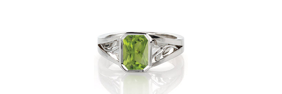 Peridot-Ring Unique Engagement Rings