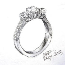 of kind design a designed custom jewelry one rings engagement