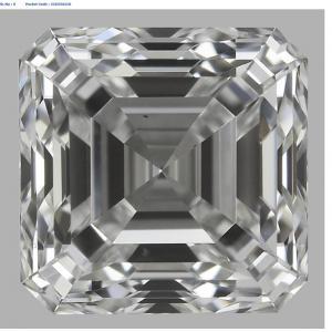Asscher 0.70 carat E VS1 Photo