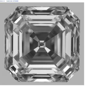 Asscher 0.75 carat E VS2 Photo
