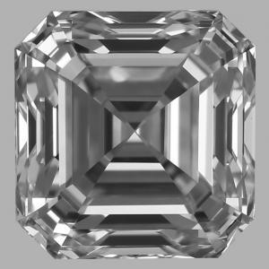 Asscher 0.70 carat F VVS2 Photo
