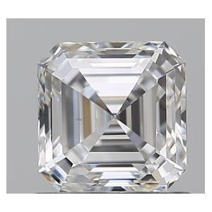Asscher 0.73 carat F VS2 Photo