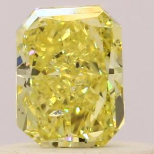 Radiant 0.33 carat Yellow  Photo