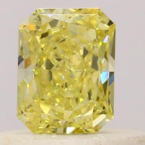 Radiant 0.29 carat Yellow  Photo