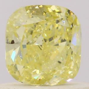 Cushion 0.40 carat Yellow  Photo