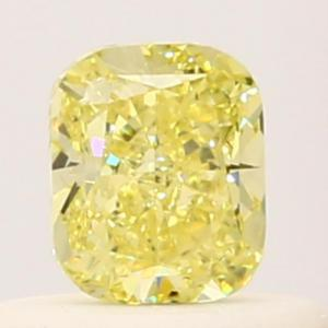 Cushion 0.37 carat Yellow  Photo