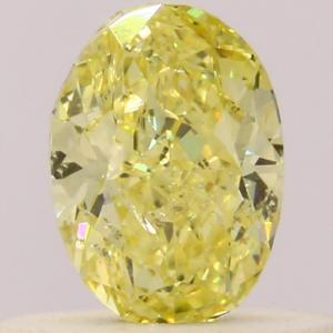 Oval 0.40 carat Yellow  Photo