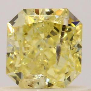 Radiant 0.57 carat Yellow  Photo