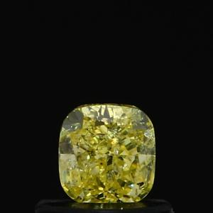 Cushion 0.44 carat Yellow  Photo