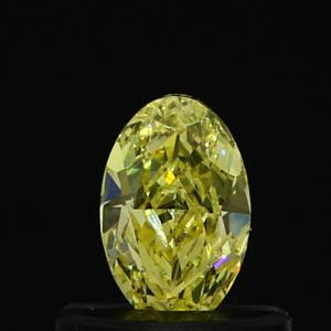 Oval 0.32 carat Yellow  Photo