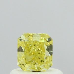 Radiant 0.39 carat Yellow  Photo