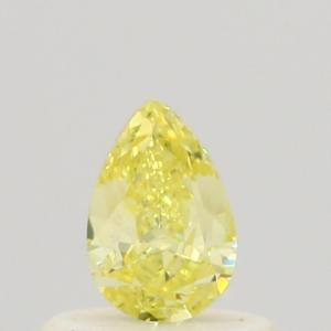 Pear 0.37 carat Yellow VS2 Photo