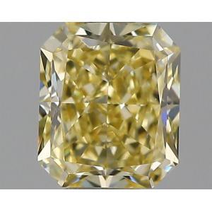 Radiant 0.42 carat Yellow VVS1 Photo