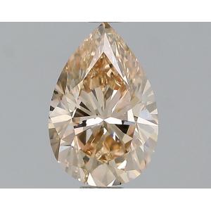 Pear 1.15 carat Brown SI1 Photo