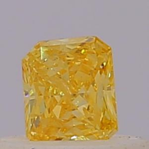 Radiant 0.18 carat Yellow  Photo