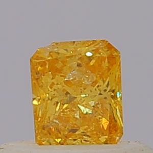 Radiant 0.23 carat Yellow  Photo