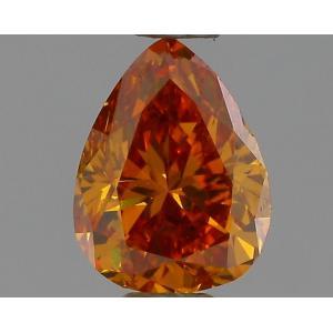 Pear 0.42 carat Orange  Photo